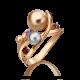 Кольцо из золота с гранатом и аметистом, ЮЗ Платина