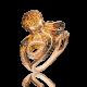 """Кольцо из красного золота с цитрином """"Спрут"""", ювелирный завод ПЛАТИНА"""