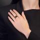 Кольцо из красного золота с кварцем дымчатым, ювелирный завод ПЛАТИНА