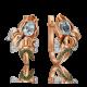 Серьги из золота с топазом в виде Ириса, ювелирный завод ПЛАТИНА