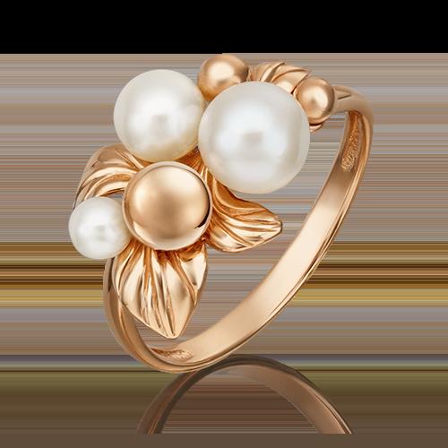"""Кольцо """"Очарование"""" из золота с жемчугом - PLATINA"""