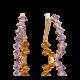 Серьги с аметистом и цитрином из золота, ювелирный завод ПЛАТИНА