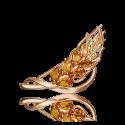 Брошь из золота с цитрином PLATINA JEWELRY