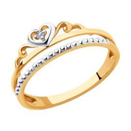 Кольца короны из золота с бриллиантами