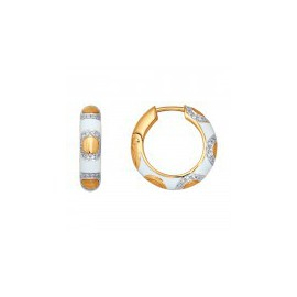 Серьги-кольца из золота